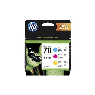 HP P2V32A No.711 3er-Pack Tintenpatrone 29ml cyan, magenta, yellow